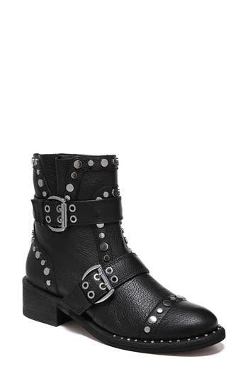Sam Edelman Drea Stud Moto Boot, Black