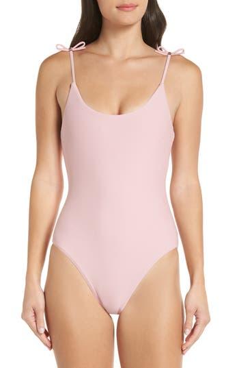 Ted Baker London Ottino Velvet One-Piece Swimsuit, Pink