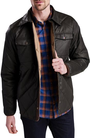 Barbour International Sonoran Quilted Shirt Jacket, Brown