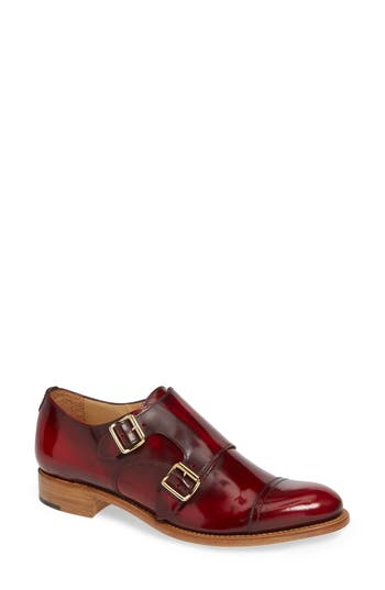 Mr. Colin Double Monk Strap Shoe, Scarlett