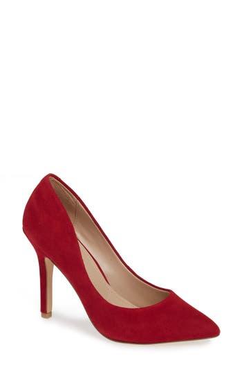Charles By Charles David Maxx Pointy Toe Pump, Red