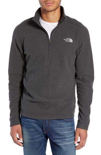 The North Face Texture Cap Rock Quarter Zip Fleece Jacket, Grey