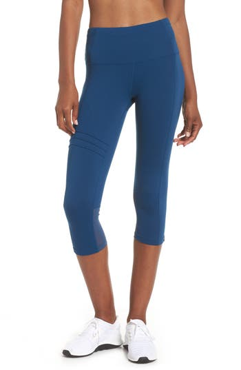 Oiselle Pocket Jogger Capri Leggings, Blue