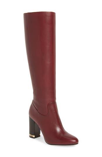 Michael Michael Kors Walker Knee High Boot- Red