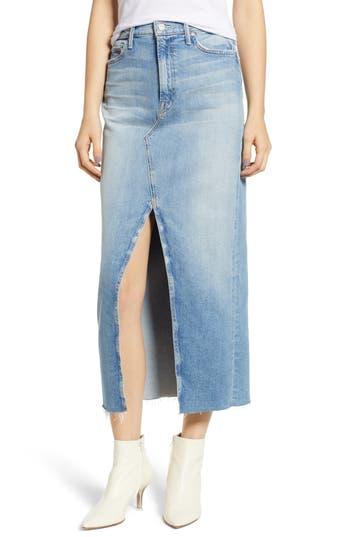 The Sacred Altered Fray Denim Maxi Skirt, Gospel Grace