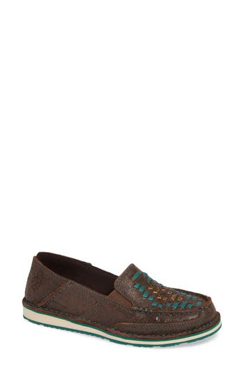 Cruiser Woven Loafer, Brown Rebel Leather
