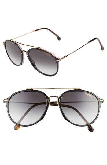 Carrera Eyewear 55Mm Round Sunglasses - Black Havana
