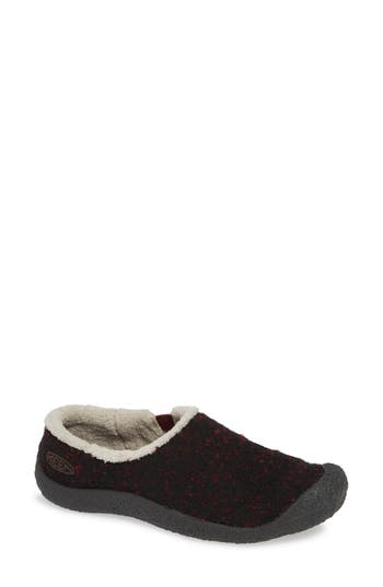 Keen Howser Round Toe Wool Slip-On, Red