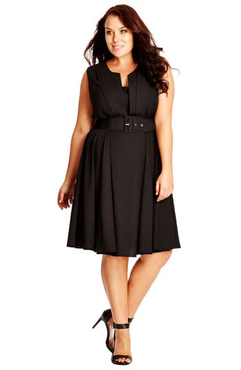 Plus Size Women's City Chic 'Vintage Veroni' Fit & Fare Dress
