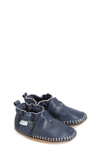Infant Boy's Robeez 'Classic Moccasin' Crib Shoe