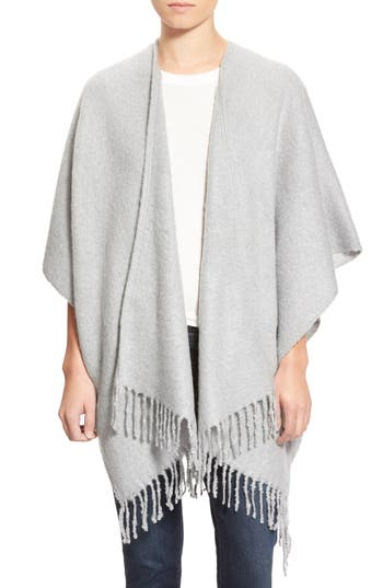 Women's Echo Boucle Cape, Size One Size - Grey
