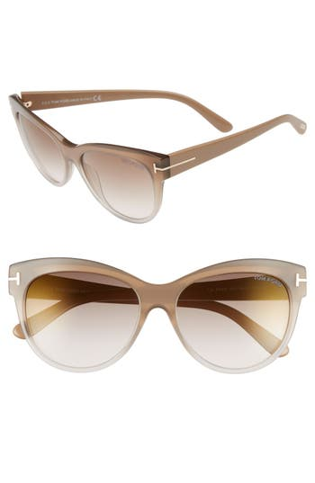 Women's Tom Ford 'Lily' 56Mm Cat Eye Sunglasses -