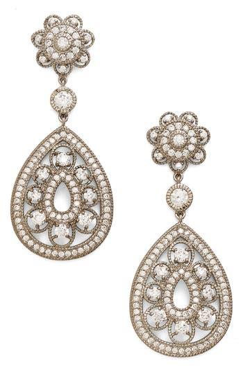 Women's Nina Filigree Teardrop Crystal Earrings