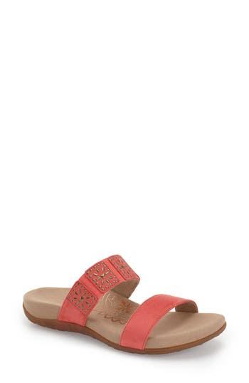Women's Aetrex 'Macy' Double Band Slide Sandal