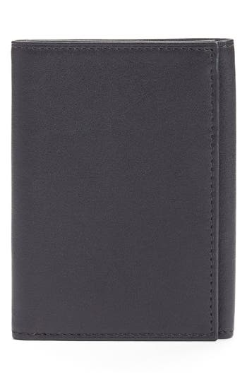 Bosca Leather Trifold Wallet - Black