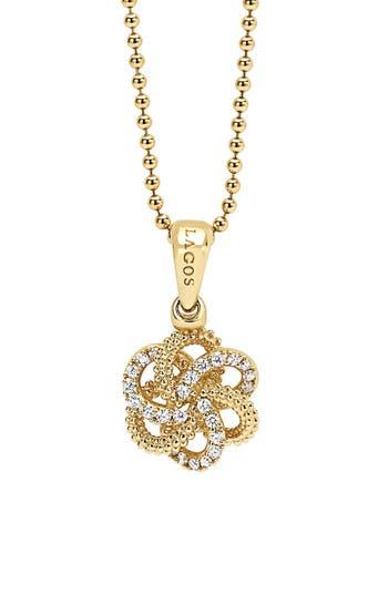 Women's Lagos 'Love Knot' Diamond Pendant Necklace