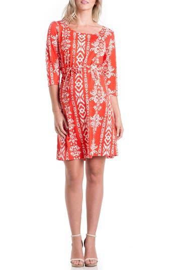Women's Lilac Clothing Print Maternity Dress