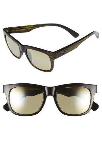 Maui Jim Snapback 5m Polarizedplus2 Sunglasses - Green Stripe/ Maui Ht