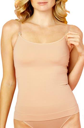 Women's Rosie Pope Tummy Control Nursing Camisole, Size X-Large - Beige