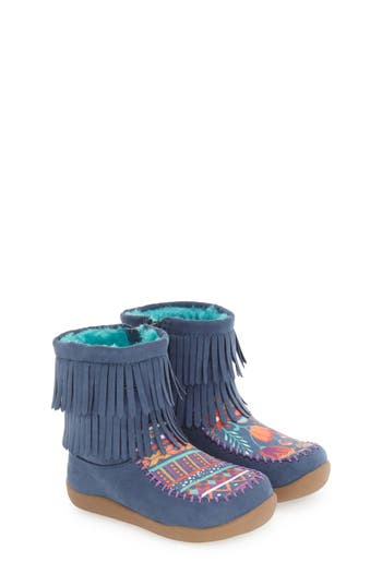 Toddler Girl's Chooze Fringe Bootie