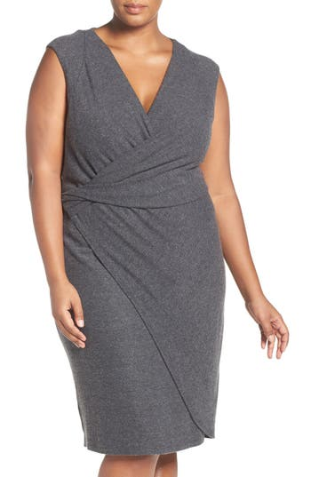 Plus Size Women's Tart 'Analyse' Faux Wrap Sheath Dress