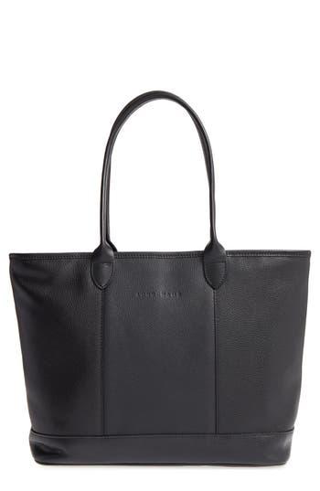 Longchamp 'Veau' Leather Tote - Black