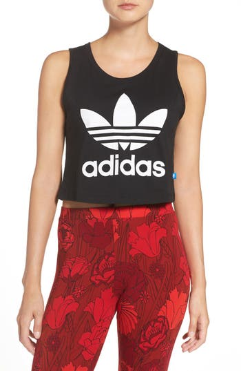 Women's Adidas Originals Trefoil Crop Muscle Tee