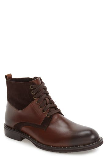 Men's Zanzara 'Verona' Midi Studded Boot, Size 8 M - Brown