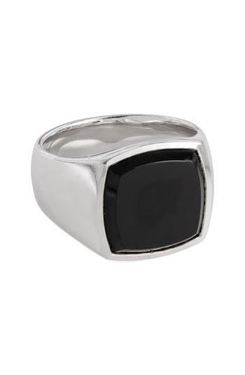 Women's Tom Wood Black Onyx Cushion Signet Ring