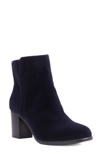 Shoes Of Prey Block Heel Bootie, Blue