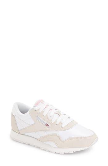 48ffe5d6ede121 Reebok Classic Nylon Sneaker In White  Light Grey