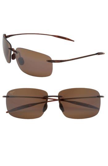 Women's Maui Jim Breakwall 63Mm Polarizedplus2 Rimless Sunglasses -