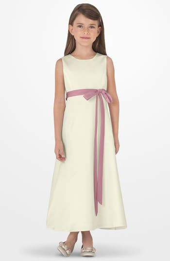 Girl's Us Angels Sleeveless Satin Dress, Size 4 - Pink
