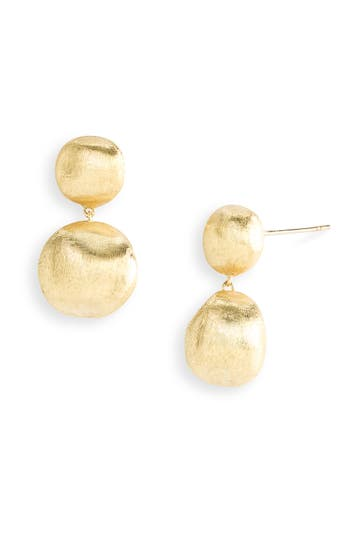 Women's Marco Bicego 'Africa Gold' Double Drop Earrings