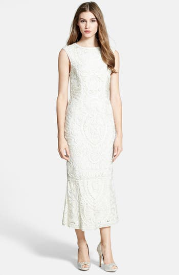Vintage Inspired Wedding Dress | Vintage Style Wedding Dresses Womens Js Collections Soutache Mesh Dress Size 16 - Ivory $260.00 AT vintagedancer.com