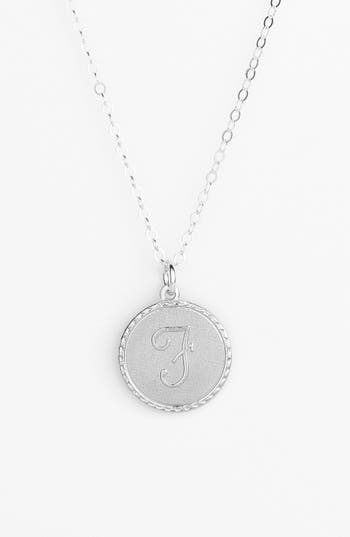 MOON AND LOLA 'Dalton' Initial Pendant Necklace in Silver