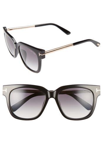 Tom Ford Tracy 5m Retro Sunglasses - Shiny Black/ Gradient Smoke