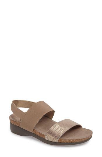 Women's Munro 'Pisces' Sandal, Size 10.5 SS - Metallic