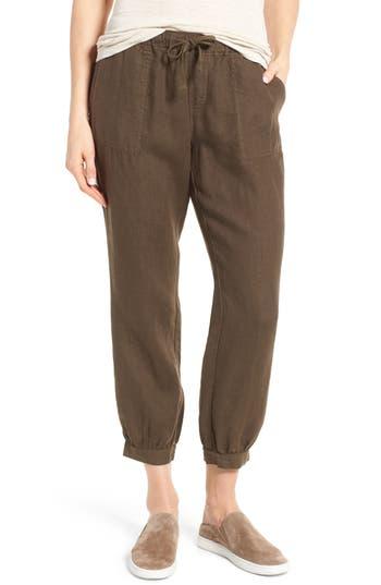 Women's Caslon Crop Linen Joggers