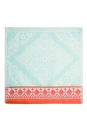 John Robshaw Mitta Washcloth, Size One Size - Blue/green