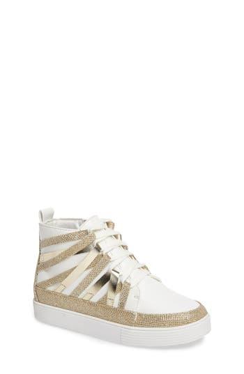 Girl's Stuart Weitzman Vance Strappy High Top Sneaker