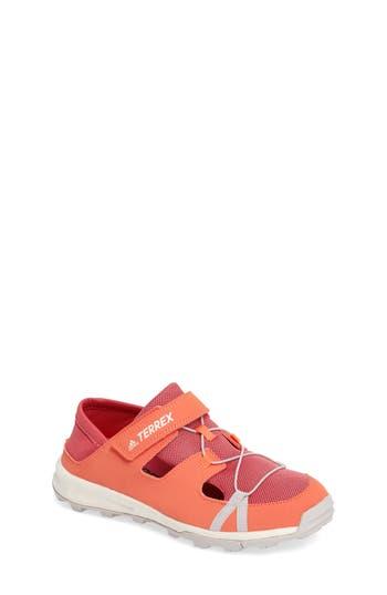 Kid's Adidas Terrex Tivid Sneaker, Size 3.5 M - Orange