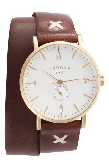 Women's Throne 1.0 Leather Wrap Strap Watch, 36Mm