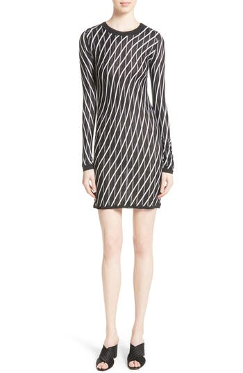 Women's Diane Von Furstenberg Double Layer Stripe Sweater Dress