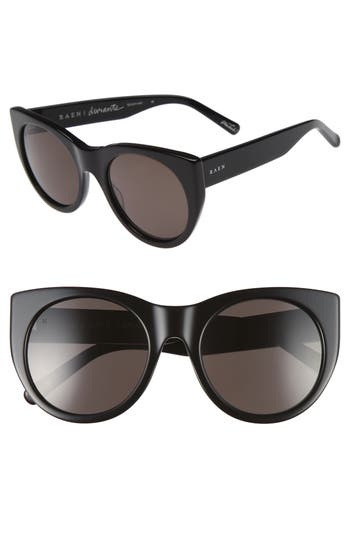 Women's Raen Durante 53Mm Retro Sunglasses - Black