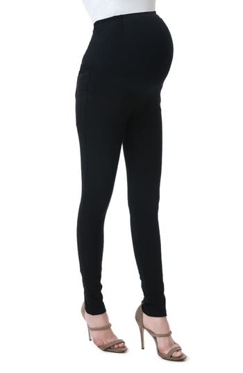 Kimi And Kai Sadie Over The Belly Maternity Denim Leggings, Black
