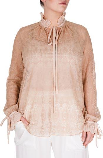 Victorian Blouses, Tops, Shirts, Vests Plus Size Womens Elvi Victorian Blouse Size 18W US  22 UK - Beige $73.03 AT vintagedancer.com