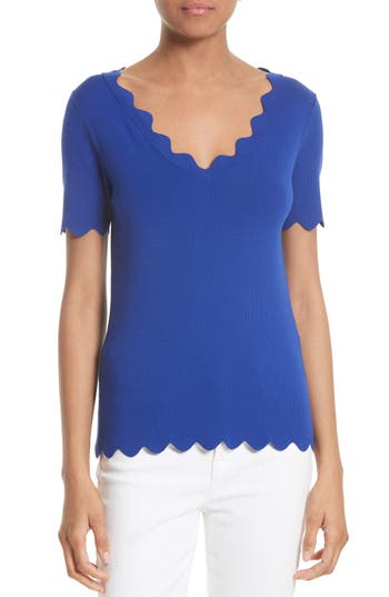 Women's Milly Scallop Top