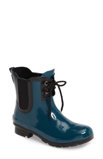 Roma Waterproof Chelsea Rain Boot, Blue/green