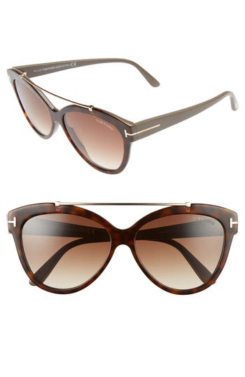 Tom Ford Livia 5m Gradient Butterfly Sunglasses - Blonde/ Rose Gold/ Brown